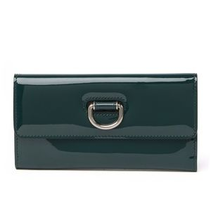 Burberry Highbury Patent Leather D-Ring Wallet